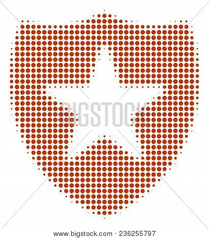 Guard Halftone Vector Icon. Illustration Style Is Dotted Iconic Guard Icon Symbol On A White Backgro