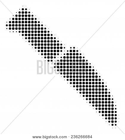 Surgery Knife Halftone Vector Icon. Illustration Style Is Dotted Iconic Surgery Knife Icon Symbol On