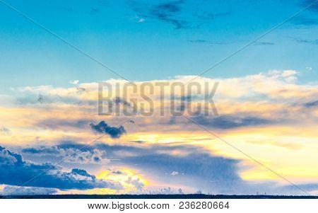 Setting Sun Skies View