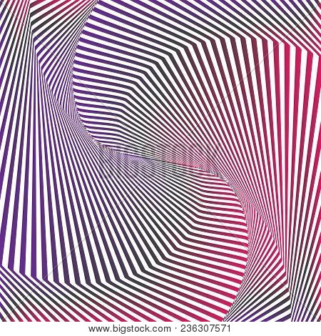 Optical Art. Optical Illusion Background. Modern Geometric Background. Gradient Vector Pattern. Desi