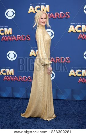 LAS VEGAS - APR 15:  Nicole Kidman at the Academy of Country Music Awards 2018 at MGM Grand Garden Arena on April 15, 2018 in Las Vegas, NV