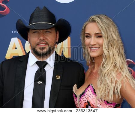 LAS VEGAS - APR 15:  Jason Aldean at the Academy of Country Music Awards 2018 at MGM Grand Garden Arena on April 15, 2018 in Las Vegas, NV