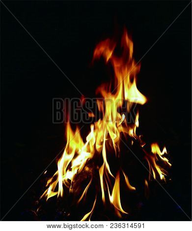 Background Of Fire. A Continuous Fire. The Big Fire, The Red Flame, The Fire Texture. Back With Fire