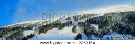 Alpine Skiing Site Panorama