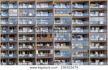 Multi-storey House With Balconies. The Concept Of Life In The Modern City