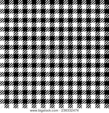 Check Fashion Tweed White And Black Seamless Pattern For Textile Prints, Wallpaper, Wrapping, Fabric