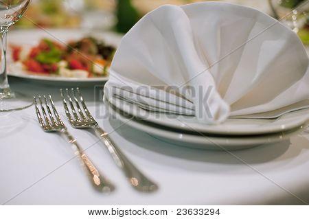 Forks And Napkins