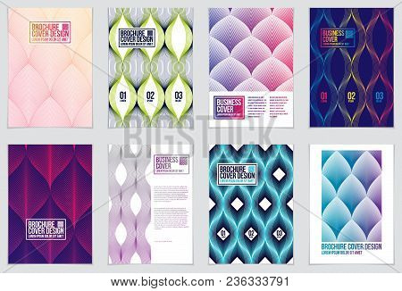 Cover With Minimal Designs. Web, Commerce Or Events Vector Graphic Design Templates Set. Vector Geom