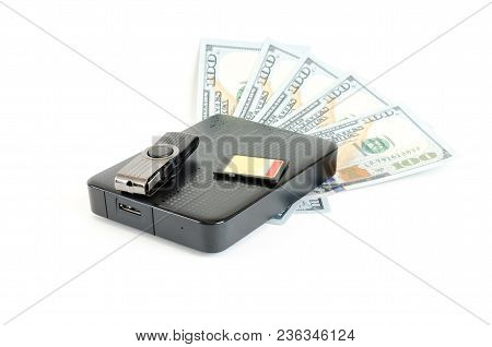 Information Is Money Valuable Concept With Usb, Memory Card, Drive
