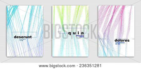 Art Linear Vector Minimalistic Trendy Brochure Designs Set, Cover Templates, Geometric Halftone Grad