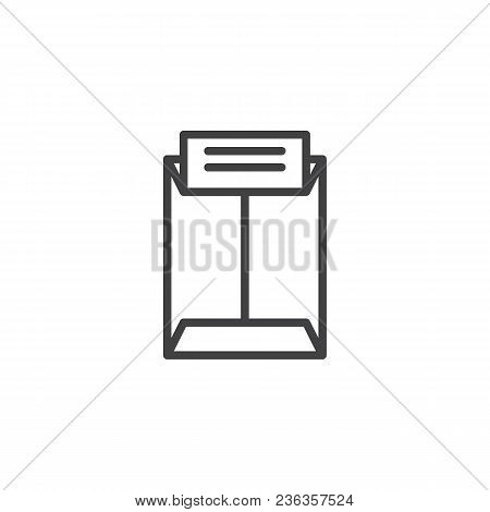Confidential Letter Outline Icon. Linear Style Sign For Mobile Concept And Web Design. Report Simple