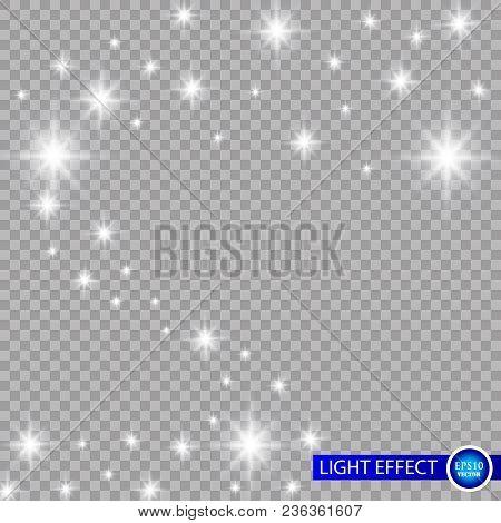 Glow Light Effect. Vector Illustration. Christmas Flash Concept.eps10