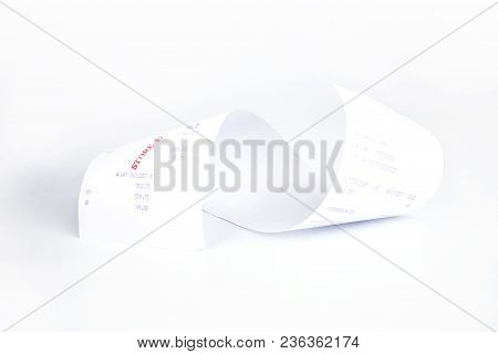Sales Receipts Grocery Shopping List On A Till Roll Printout