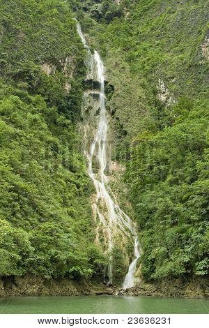 Waterfall in Sumidero Canyon, Chiapas Mexico