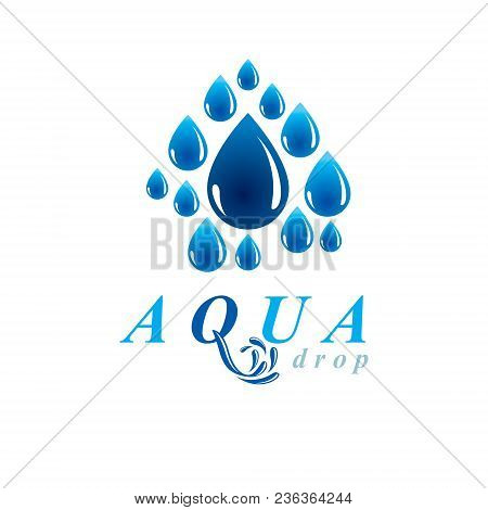 Global Water Circulation Vector Logotype For Use In Spa And Resort Organizations. Human And Nature C