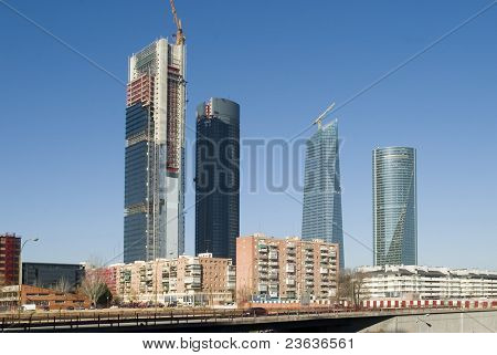 Skyscrappers under construction