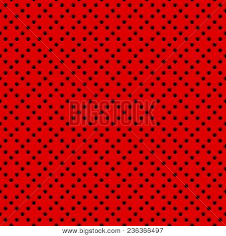 Red Abstract Technology Background With Seamless Circle Perforated Speaker Grill Texture For Web, Us