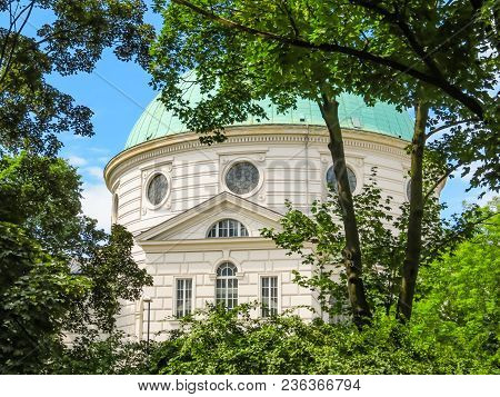 Dome Of Lutheran Church. The Holy Trinity Church, One Of The First Neoclassical Buildings In Europe.