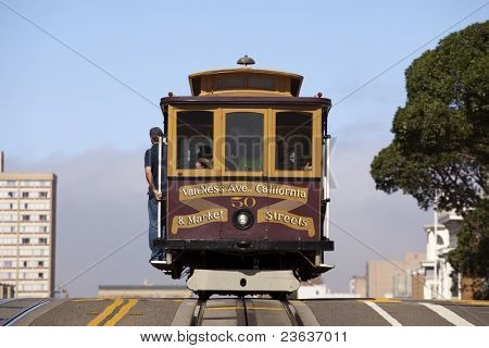 Cable Car over hill