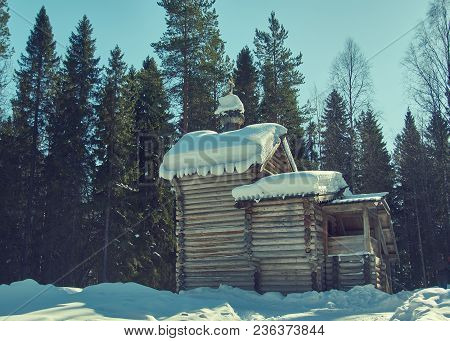 Russian Traditional Wooden Chapel