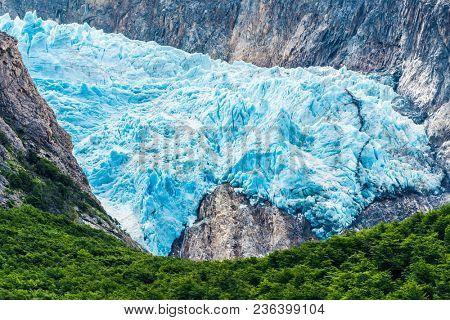 Detail of glacier Piedras Blancas in Los Glaciares National park, Argentina