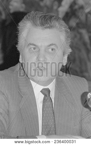Moscow, Ussr - February 19, 1991: Chairman Of The State Committee On Prices Of The Ussr Senchagov Vy