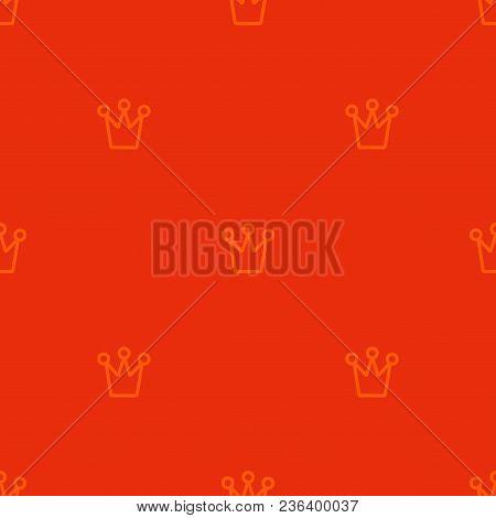 Royal Crown Pattern. Simple Geometry Series. Minimal Graphics