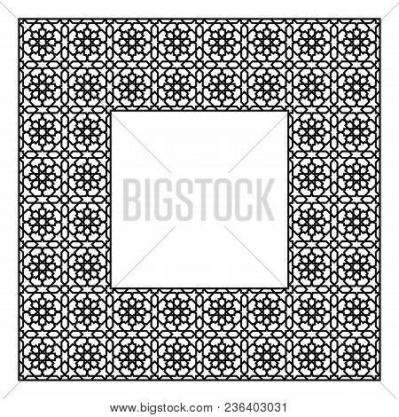 Arabic Geometric Ornament Based On Traditional Arabic Art. Muslim Mosaic.