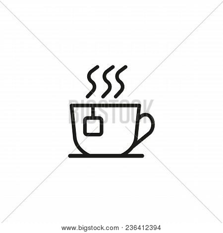 Cup Of Tea Line Icon. Tea Bag, Hot Beverage, Dish. Drink Concept. Can Be Used For Topics Like Coffee