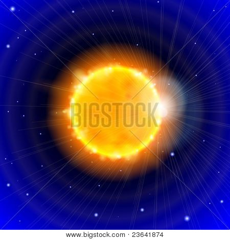 Sun and Space. Bitmap copy my vector ID 52833034