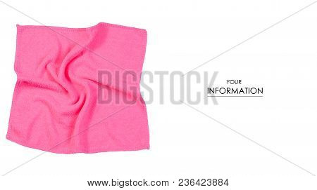 Napkin Microfiber Pink Pattern On A White Background Isolation