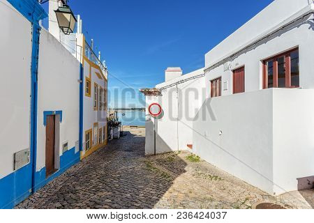 Old Traditional Streets Of The Village Alvor, Portimao.