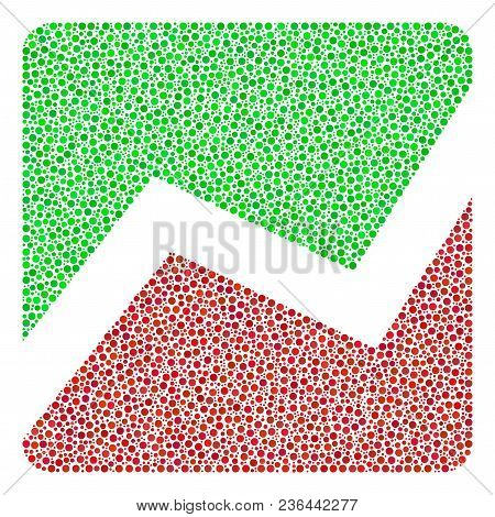 Analytics Chart Collage Of Dots In Variable Sizes And Color Hues. Dots Are United Into Analytics Cha
