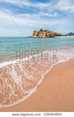 Historical Sveti Stefan Old Town, Currently Privately Owned, Coast Of Montenegro