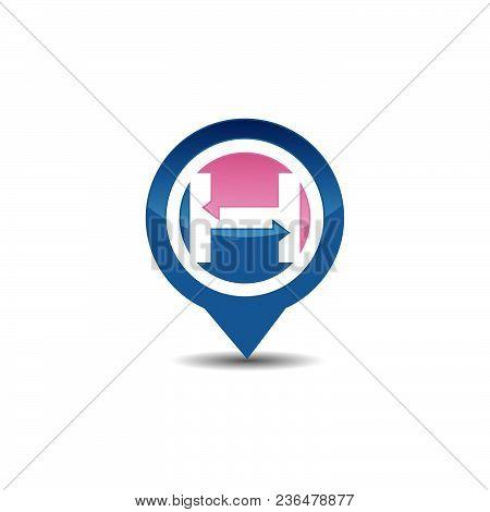 H Letter Gps Logo. Gps Vector. Gps Icon. Navigation Vector Logo. Navigation Vector Icon. Travel Logo