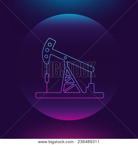 Oil Pump. Oil Derrick. Vector Icon. Simple Pictogram Jack, Well, Tower, Energy Equipment, Gasoline I