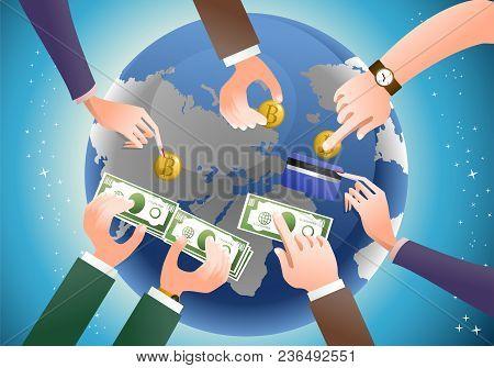 Fiscal Monetary Economic Management Distribution Theme Background