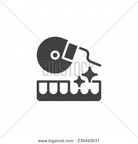 Dental Floss Vector Icon. Filled Flat Sign For Mobile Concept And Web Design. Oral Hygiene Simple So