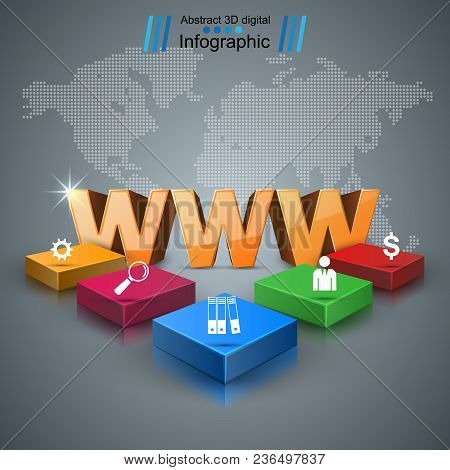 Www, Web, Internet - Business Infographic Vector Eps 10