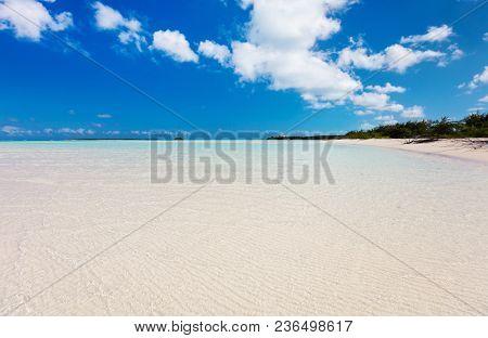 Beautiful tropical beach at Exuma Bahamas
