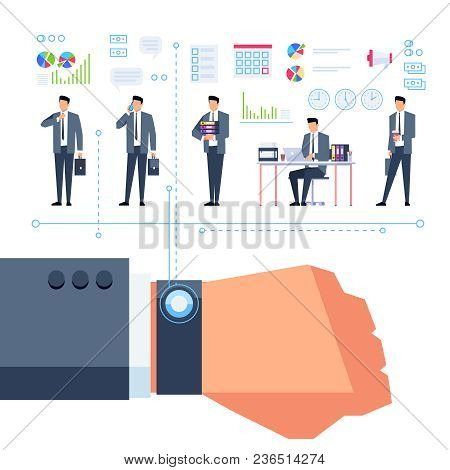 Time Management. Concept Of Working Time Planning. Template Design For A Poster On The Planning Of P