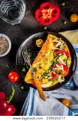 Stuffed Omelette With Vegetable