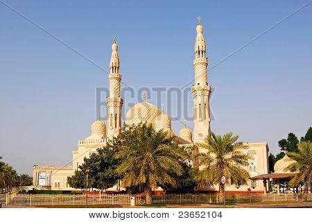 The old famous mosque in Dubai UAE poster