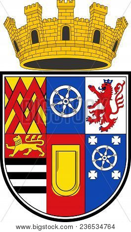 Coat Of Arms Of Muelheim Is A City In North Rhine-westphalia In Germany. Vector Illustration