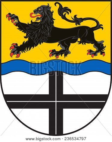 Coat Of Arms Of Dormagen Is A Town In Neuss Of North Rhine-westphalia, Germany. Vector Illustration