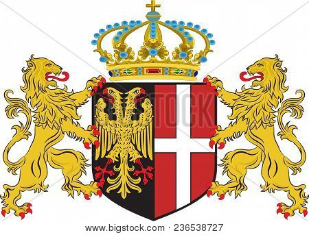 Coat Of Arms Of Neuss Is A City In North Rhine-westphalia, Germany. Vector Illustration