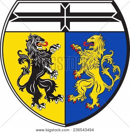 Coat Of Arms Of Viersen Is A District In The West Of North Rhine-westphalia, Germany. Vector Illustr