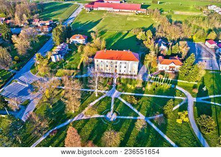 Town Of Krizevci Park Aerial View, Prigorje Region Of Croatia