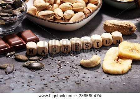 Products Containing Magnesium: Bananas, Pumpkin Seeds, Cashew Nuts, Peanuts And Pistachios