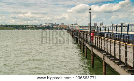 Southend-on-sea, Essex, England, Uk - May 30, 2017: View From Southend Pier (longest Pleasure Pier I
